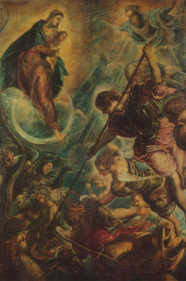 Jacopo Tintoretto. The battle of Archangel Michael with Satan