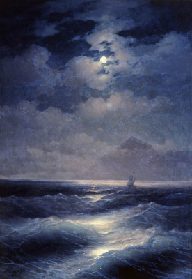Ivan Aivazovsky. Marine view with the moon