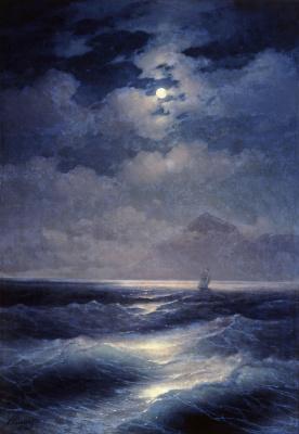 Ivan Constantinovich Aivazovski. Marine view with the moon