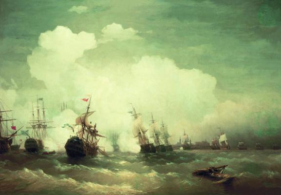 Иван Константинович Айвазовский. Морское сражение при Ревеле 2 мая 1790 года