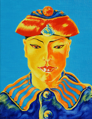 Kandinsky-DAE. Siamese sailor in the national headdress. Oil on canvas, 50-40, 1980.