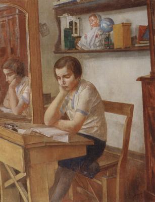 Kuzma Sergeevich Petrov-Vodkin. The girl at the Desk