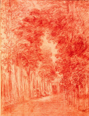Antoine Watteau. Alley in the Park