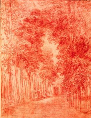 Antoine Watteau. Alley in the Park