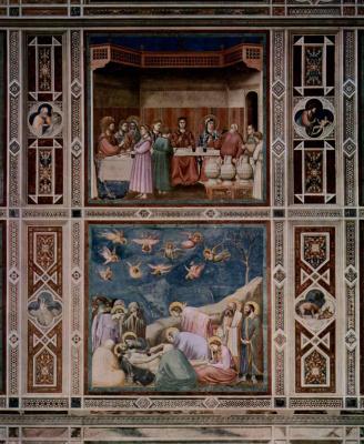 Джотто ди Бондоне. Фрески: Брак в Кане. Оплакивание Христа. Сцены из жизни Христа