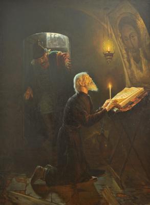 Alexander Nikonorovich Novoskoltsev. The last minutes of Metropolitan Philip's life. 1880s