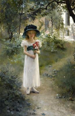 Альберт Густав Аристид Эдельфельт. В саду. 1882
