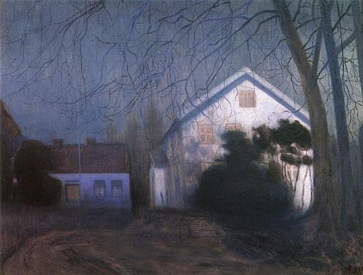 Harald Oskar Sohlberg. Moonlight