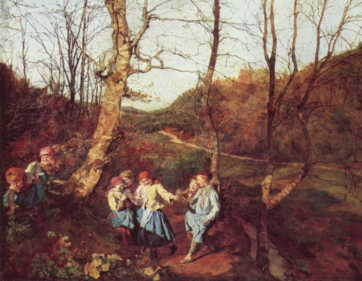 Ferdinand Georg Waldmüller. Early spring in the Vienna woods