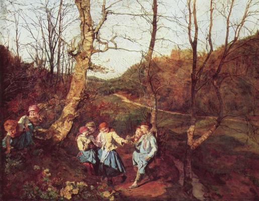 Ferdinand Georg Waldmuller. Early spring in the Vienna woods