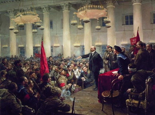 Владимир Александрович Серов. Выступление В.И. Ленина на II Всероссийском съезде Советов