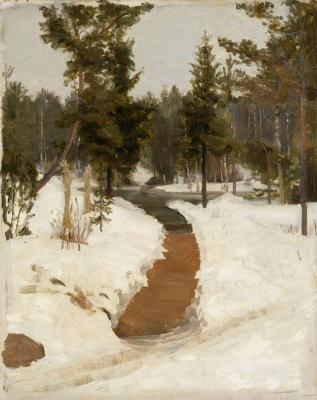 Илья Ефимович Репин. Зимний пейзаж