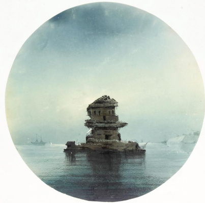 Ivan Constantinovich Aivazovski. Seascape in the moonlight