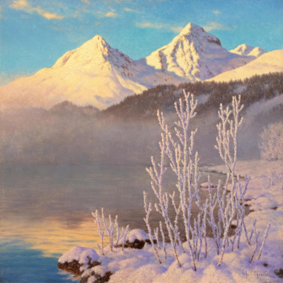 Ivan Fedorovich Schultze. View of lake Saint Moritz