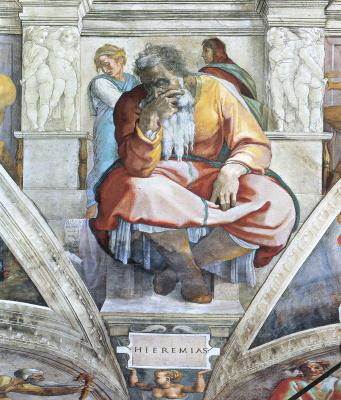 Michelangelo Buonarroti. The Prophet Jeremiah