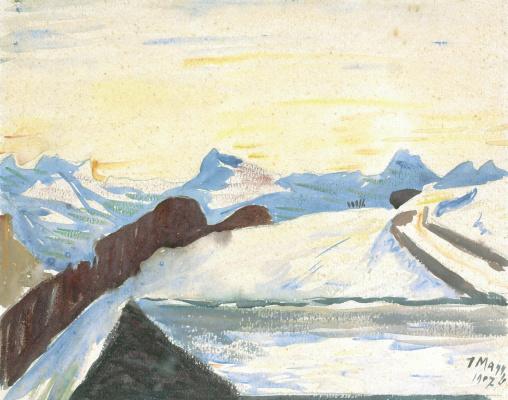 Giovanni Giacometti. Winter mountain landscape