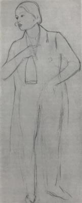 Павел Андреевич Федотов. Сиделец с бутылкой. Эскиз