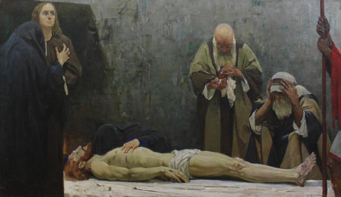 Fedor Grigorievich Krichevsky. Lamenting christ