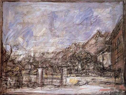 Альберто Джакометти. Пейзаж возле Стампа