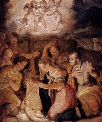 Джорджо Вазари. Поклонение пастухов