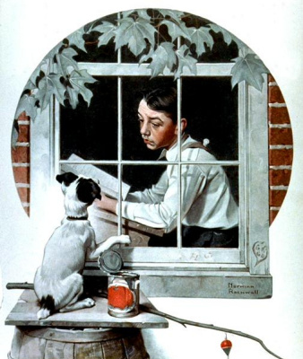 Norman Rockwell. In prison