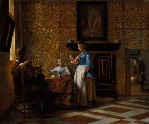 Pieter de Hooch. Stay in an elegant setting