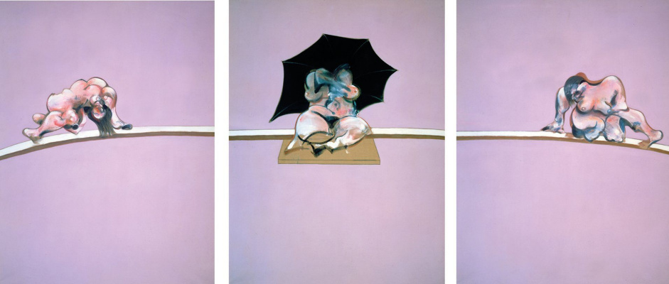 Francis Bacon. Three sketches of the human body