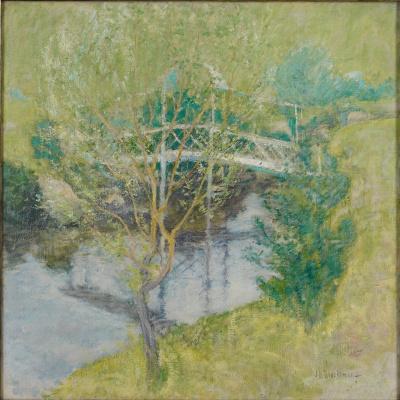 John Henry Twachtman. White bridge