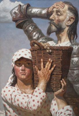 Heliy Mikhailovich Korzhev. Dulcinea and the knight