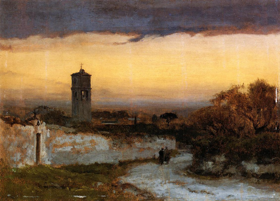 George Innes. Monastery at Albano