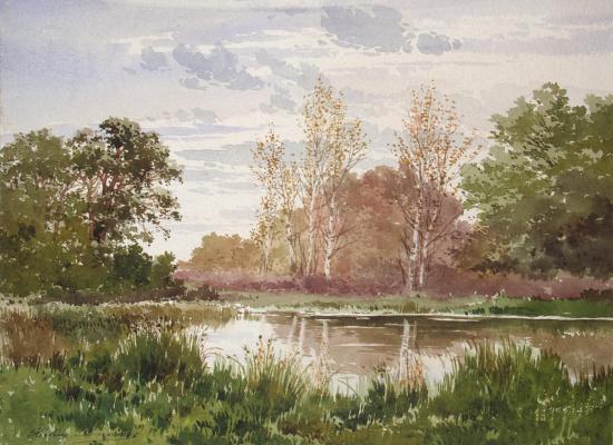 Элен Марешаль. Осенний пейзаж