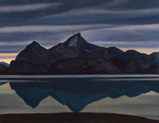 Rockwell Kent. Mountain reflecting in the water. South Greenland