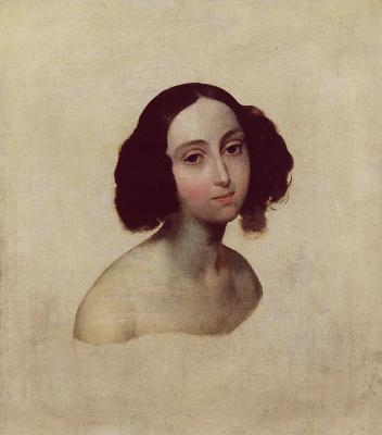 Karl Pavlovich Bryullov. Portrait of Grand Duchess Olga Nikolaevna. Etude