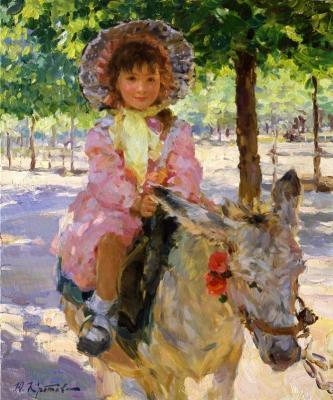 Yuri Krotov. Donkey girl.