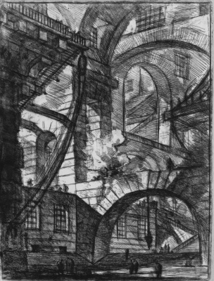 Джованни Баттиста Пиранези. Серия Тюрьмы, лист VI