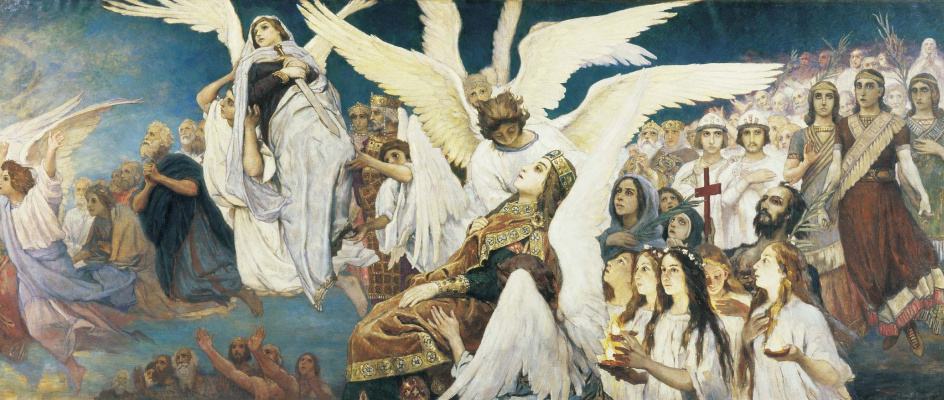 "Viktor Mikhailovich Vasnetsov. Triptych ""the Joy of the righteous in the Lord. The threshold of Paradise"". The sketch for the painting of the Vladimir Cathedral in Kiev. Fragment (the right part)"