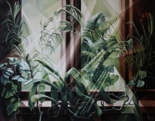 Vasily Krotkov. Jungle. Post-kubofuturizm