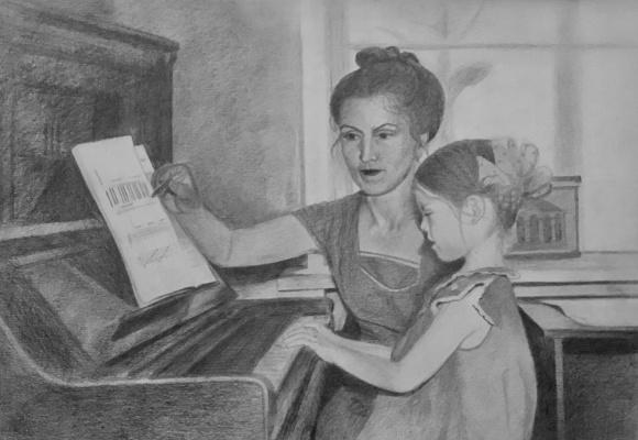 Regina Muller. Music lesson