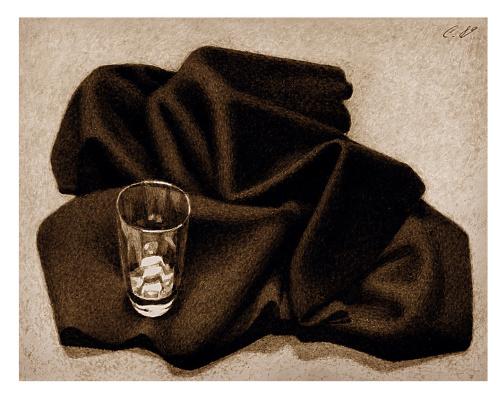 Nikolai Nikolayevich Sednin. Still life with a glass