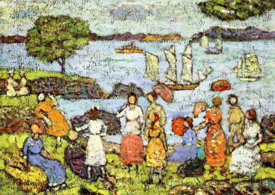 Maurice Braziel Prendergast. Nearing the evening. New England