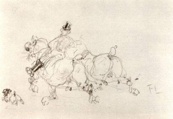 Henri de Toulouse-Lautrec. Two horses