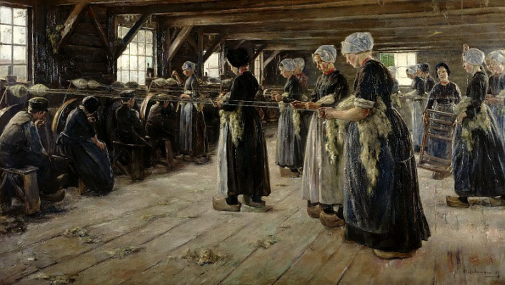 Max Lieberman. Linen manufactory in Lorena (flax Spinners)