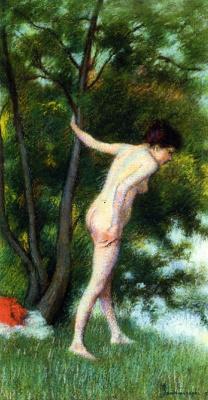 Федерико Дзандоменеги. Купальщица в лесу