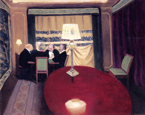 Felix Vallotton. Poker game