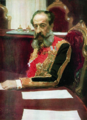 Ilya Efimovich Repin. Portrait of Prince Mikhail Sergeyevich Volkonsky