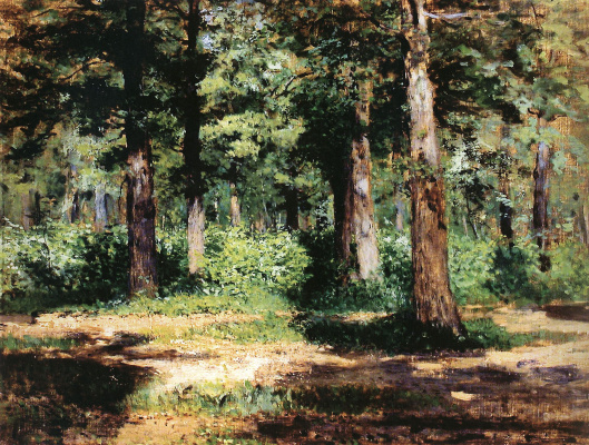 Isaac Levitan. Forest. Sunny day