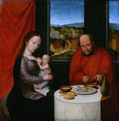 Неизвестный  художник. Святое семейство .  Вторая пол XVI века