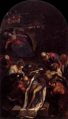 Якопо (Робусти) Тинторетто. Погребение Христа