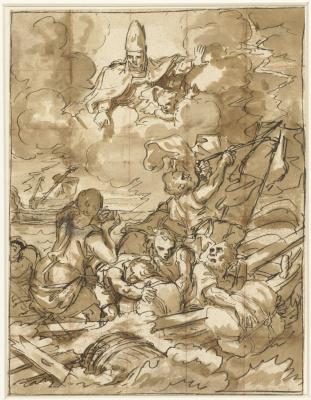 Франческо Де Мура. Святой Николай успокаивает штормящее море