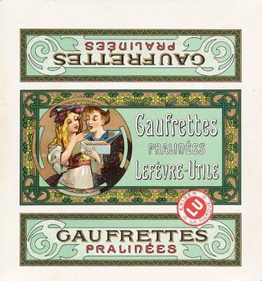 "Alphonse Mucha. Label ""Pralines"""